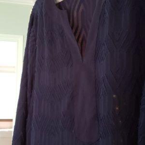 Dana Buchman Tops - Dana Buchman 1X Tunic Blouse in Navy